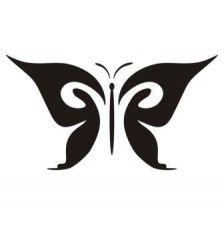 Трафарет сказочная бабочка трафарет