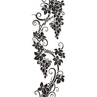 Трафареты для декора своими руками шаблоны виноградная лоза
