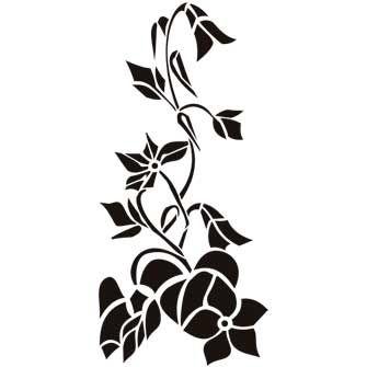 Трафареты растений для декора своими руками шаблоны