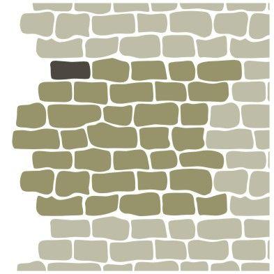 Трафарет кирпичная стена своими руками