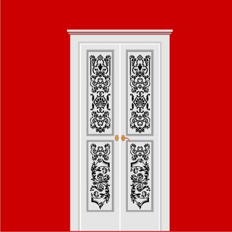 Трафарет для входной двери своими руками 70